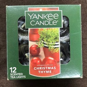 NWOT - 11 Yankee Candle Christmas Thyme tea lights